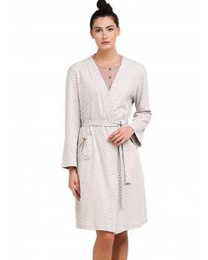 Ρόμπα ΓΙΩΤΑ Homewear - Γεμάτο Βαμβάκι - Dots Πουά - Χειμώνας 2020/21