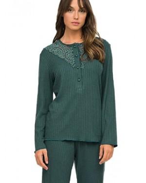 Πυτζάμα ΓΙΩΤΑ Homewear - Γεμάτο Βαμβάκι - Δαντέλα & Κουμπιά - Χειμώνας 2020/21