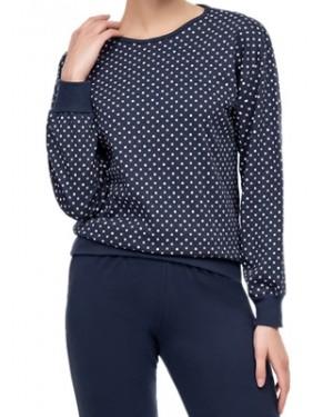 Πυτζάμα ΓΙΩΤΑ Homewear - Γεμάτο Βαμβάκι - Dots Πουά - Χειμώνας 2020/21