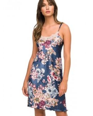 Νυχτικό ΓΙΩΤΑ Homewear - Απαλό Σατέν - Floral Σχέδιο & Δαντέλα - Χειμώνας 2020/21