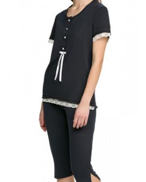 Πυτζάμα ΓΙΩΤΑ Homewear - 100% Βαμβακερή - Κουμπιά & Δαντέλα - Καλοκαίρι 2021