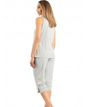 γυναικεία πυτζάμα harmony 100906 grey πίσω