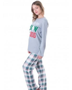 Πυτζάμα Harmony 100% Βαμβακερή - Καρό Παντελόνι - Χειμώνας 19