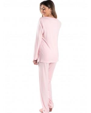 γυναικεία πυτζάμα harmony 29932 pink πίσω