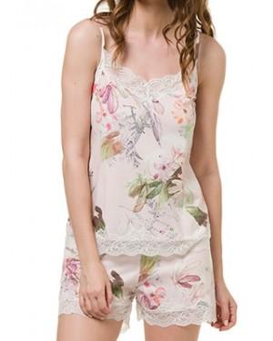 Babydoll HARMONY - Modal Βαμβάκι - Floral Σχέδιο & Δαντέλα