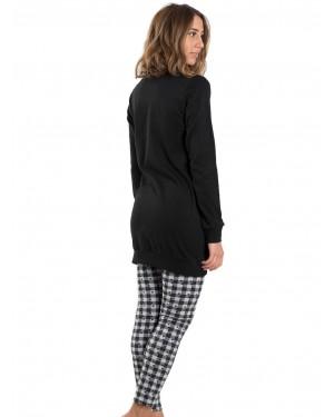 γυναικεία πυτζάμα intimami id512 μαύρο πίσω