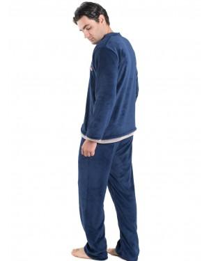 Ανδρική Πυτζάμα Homewear KARE Μπλε - Ζεστό & Απαλό Fleece - 300