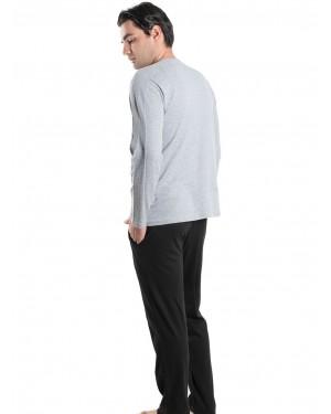 Ανδρική Πυτζάμα Homewear KARE - 100% Βαμβακερή & Κουμπιά - tp005