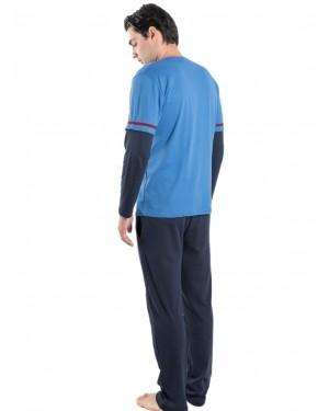 KARE Ανδρική Πυτζάμα Homewear - 100% Βαμβακερή - tp004