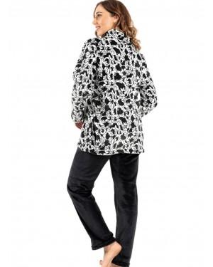 γυναικεία πυτζάμα koyote 5059 black-white πίσω