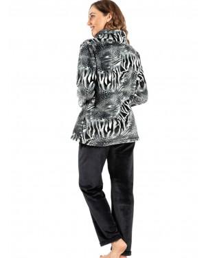 γυναικεία πυτζάμα koyote 5059 grey animal πίσω
