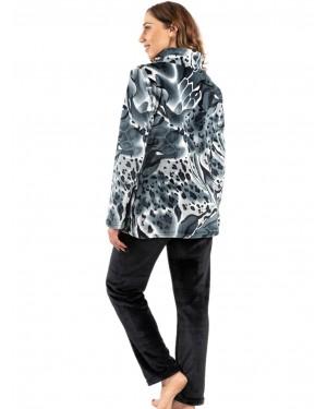 γυναικεία πυτζάμα koyote 5059 grey print πίσω
