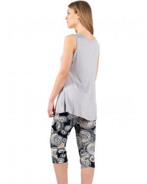 γυναικεία πυτζάμα koyote 6010 grey πίσω