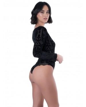 Κορμάκι Lormar Amante - Brazilian Slip - Βελούδο & Δαντέλα