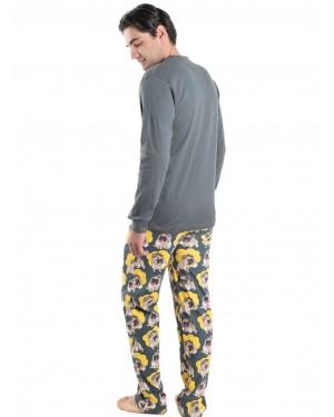 Ανδρική Πυτζάμα Homewear MEI - 100% Βαμβακερή - All Over Σχέδιο - 901980