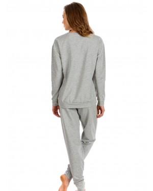 MINERVA Πυτζάμα Γυναικεία Φούτερ Fluo Dots - Extra Ζεστή - Sport Look - Special Choice 19/20