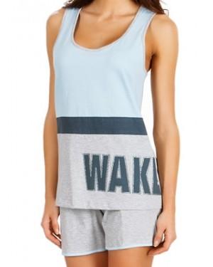 Πυτζάμα Γυναικεία MINERVA Athletic Wake Up - 100% Βαμβακερή - Hot Pick SS20