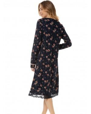 γυναικείο νυχτικό floral minerva 51923-622 πίσω