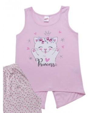 Παιδική Πυτζάμα MINERVA Cat Princess - 100% Αγνό Βαμβάκι - Καλοκαίρι 2021
