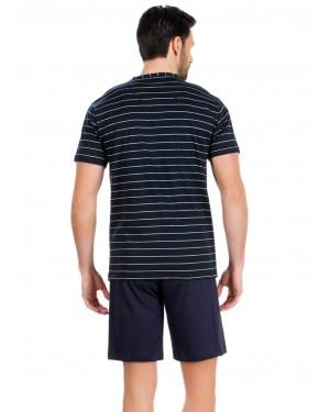 Αντρική Πυτζάμα MINERVA Stripes Sea Sailor - 100% Βαμβακερή