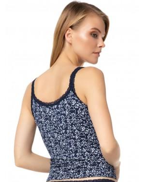 MINERVA Γυναικείο Top Fimelle Elegance Blossom 672 - Απαλό Modal & Δαντέλα - Καλοκαίρι 2020