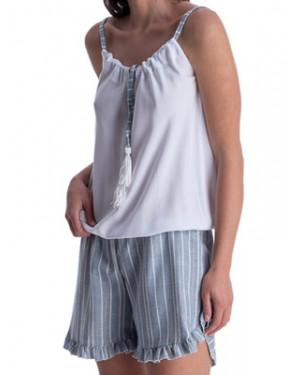 Ολόσωμο Σορτς Outwear RACHEL - Αέρινο Viscose - Lurex Σχέδιο - Καλοκαίρι 2021