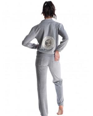 γυναικεία φόρμα rachel 12689 grey πίσω