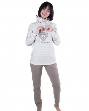 Γυναικεία Πυτζάμα Venere - 100% Βαμβακερή - Αξεσουάρ για το Λαιμό - Χειμώνας 19